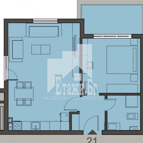 Двустаен апартамент в затворен комплекс в к.к. Св. Константин и Елена