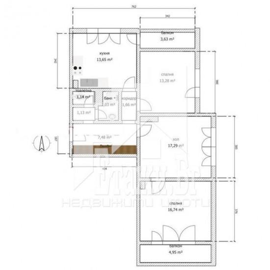 Топъл, просторен четиристаен тухлен апартамент